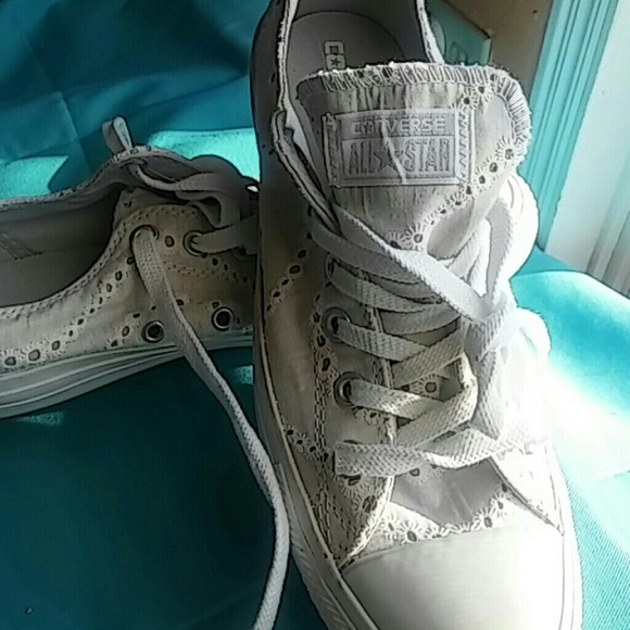 Converse All Star White Eyelet Womens